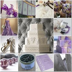 Lavender and grey inspiration board