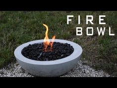 Make Your Own DIY Outdoor Concrete Fire Bowl | CONTEMPORIST