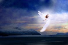 God Sends Angel Down From Heaven Powerfully Landing On The Earth (Absolutely Amazing) (You Must See! Angel Flying, Sky Quotes, Angel Wallpaper, Your Guardian Angel, Desiderata, How Do You Find, Angels Among Us, Nature Paintings, Ankara