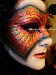 Venetian Mask Makeup (Right Side) by anilorac186, via Flickr