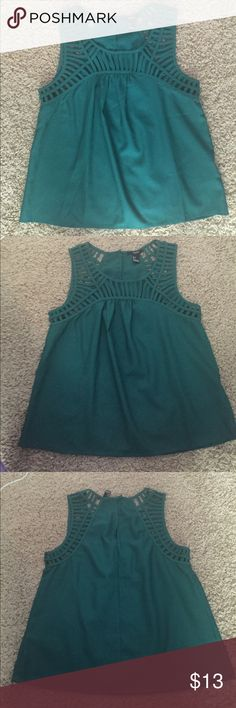  Teal tank top blouse Excellent condition. Pictures don't do it justice. Nice textured material Tops Blouses