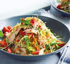 Sweet chilli chicken and noodle salad   Australian Healthy Food Guide