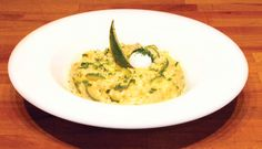 Risotto with Courgettes. Rice, butter, onion, white wine, courgettes, vegetable stock, parsley, parmigiano cheese, pepper.