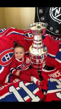 Soumis par / Submitted by Ben Robin Montreal Canadiens, Cool Baby Stuff, Fun Stuff, Nhl, Goalie Mask, Happy Things, Custom Trucks, Ice Hockey