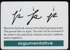 handwriting analysis - argumentative