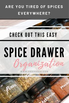 Are you tired of your spice drawer being a complete mess? Here's a kitchen drawer organization idea you should try! Organize and declutter your spice drawer easily with this one little trick, that makes it so much easier! Kitchen Drawer Organization, Spice Organization, Diy Kitchen Storage, Diy Kitchen Decor, Kitchen Drawers, Kitchen Redo, Kitchen Shelves, Kitchen Pantry, Organization Ideas