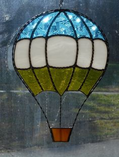 Stained Glass Hot Air Balloon - Handcrafted in Tennessee USA by CandJMountainGlass on Etsy