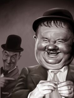 Laurel and Hardy - CARICATURE: http://dunway.com/