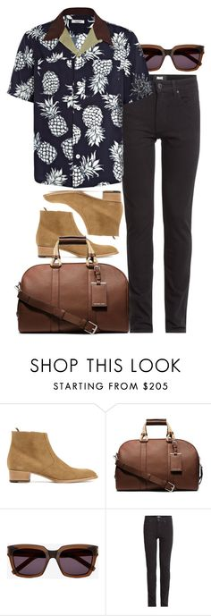 """""""Inspired by Harry."""" by nikka-phillips ❤ liked on Polyvore featuring Yves Saint Laurent, Michael Kors, Paige Denim, Valentino, mens, men, men's wear, mens wear, male and mens clothing"""