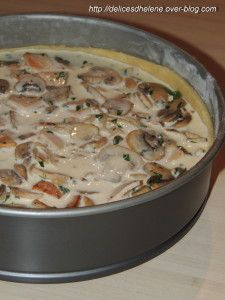Tarte champignons-poulet (2)