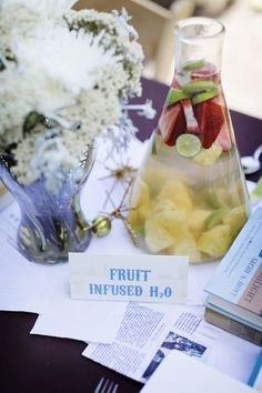 Perfect Chemistry Theme Bridal Shower by Alders Photography  Read more - http://www.stylemepretty.com/2011/05/23/perfect-chemistry-theme-bridal-shower-by-alders-photography/