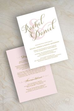 Gold glitter sparkle wedding invitation, pink and gold wedding invitations, typography, script names, cursive wedding invitation, Sparkle. www.appleberryink.com