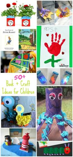 Read it then Make it! More than 50+ Book and Story inspired craft ideas for kids!
