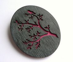 Bird & Twig Brooch by MOLLY GINNELLY-UK A collaboration between two artists...Molly Ginnelly and Charlie Trimm