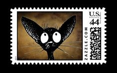 Oriental cat postage stamps #gothic