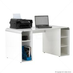 Reflection - White Gloss Designer Desk This one is also nice. Made Office Furniture