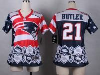 NFL Jersey's Women's New England Patriots Malcolm Butler Nike Navy Blue Game Jersey