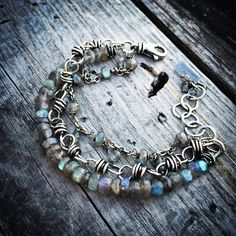Sterling Silver Bracelet  Labradorite Bracelet Handmade Wild Prairie Silver Jewelry Joy Kruse by joykruse on Etsy https://www.etsy.com/listing/186674844/sterling-silver-bracelet-labradorite