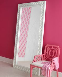 aster floor mirror by lilly pulitzer home at horchow the chair and wall color - Mirror For Girls Room