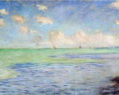 The Sea at Pourville - Claude Monet
