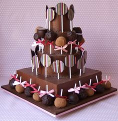 Chocolate Lollipop Cake by Makis Cakes