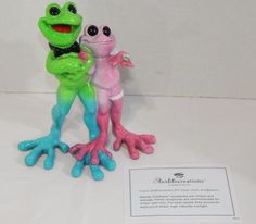 Kitty's Critters Happily Ever After Figurine Engagement Marriage Frogs Ring | eBay