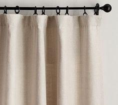 Day 26, Curtains: Pottery Barn Belgian Linen Drape in Ivory. #potterybarn