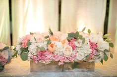 Peach Pink and White Centerpiece by Passion Roots   Ashley Goodwin Photography.jpg