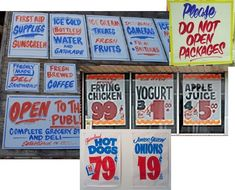 grocery store signs - Google Search