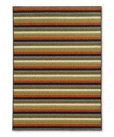 Loving this Stripe Earth Ara Rug on #zulily! #zulilyfinds