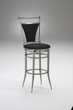 Hillsdale 4903-826 Cierra Swivel Counter Stool - Black Fabric