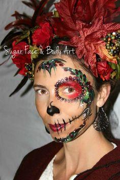 Fall Day of the Dead/Sugar Skull Makeup  - Vanessa Mendoza #sugarskull