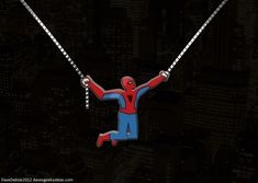 Spiderman Necklace.