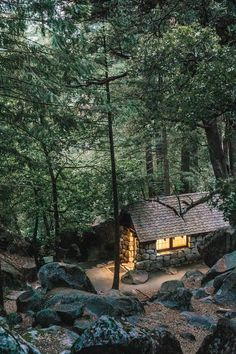 mountainside stone cottage - Cabins And Cottages: mountainside stone cottage Cottage In The Woods, Cabins In The Woods, House In The Woods, Forest Cabin, Forest House, Forest Cottage, Mountain Cottage, Mountain Cabins, Forest Mountain