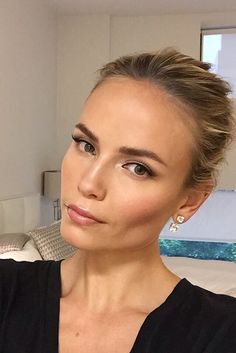 Natasha Poly gets ready for the CFDAAwards.
