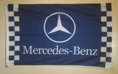 Mercedes Benz Logo 3 X 5 Garage Wall Banner Flag Sign Man Cave Decor Gift