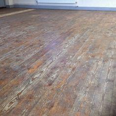 Sanding wood floor  - Before - Cambridge