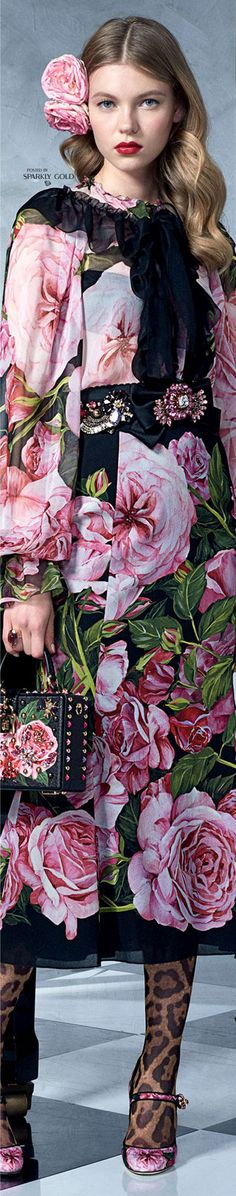 D&G S/S 2017 Dance Print And Floral, dress, clothe, women's fashion, outfit inspiration, pretty clothes, shoes, bags and accessories