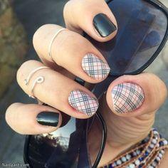 Top 125 Plaid Nail Art Design