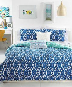 Seventeen Bedding, Ombre Ikat Full/Queen Comforter Set