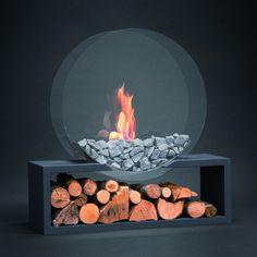 Alfra Feuer Bioethanolofen Bioethanolkamin Julius rund anthrazit. #homeideas #bioethanolkamin #kamin