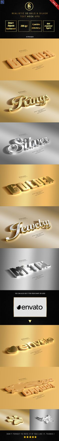 3D Golden & Silver Layer Styles Vol.2 - Text Effects Actions