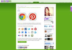 6 Chrome Extensions To Perfect Your Pinterest Experience ✿Teresa Restegui http://www.pinterest.com/teretegui/✿