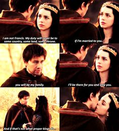 damn it bash! you had ME falling for you with that speech! Mary resist! stay with Francis!