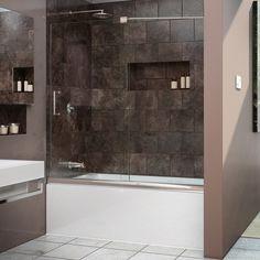 DreamLine Mirage 56 to 60-inch Frameless Sliding Tub Door - Overstock Shopping - Big Discounts on DreamLine Shower Doors