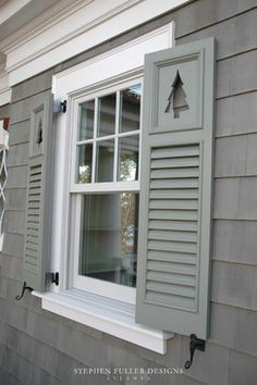 Louvered Shutters With Tree Cutouts Need Cut Outs Get Creative You