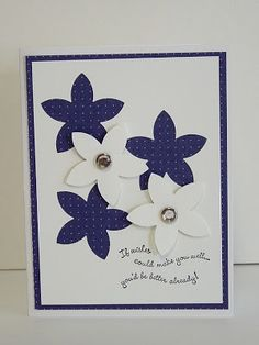 Maine Mountain Stamper: RETIRING PRODUCTS - 5 Petal Punch, Curvy Verses and Bling!