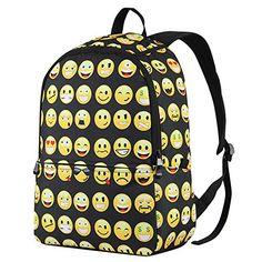 Hynes Eagle Cute Emoji Backpack Cool Kids School Backpack (Black) Hynes  Eagle http  70d4c72cb267b