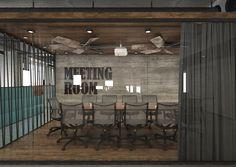 Interior Design For Bathroom Refferal: 4632228605 Open Office Design, Industrial Office Design, Corporate Office Design, Workplace Design, Office Interior Design, Office Interiors, Office Designs, Industrial Loft, Office Ideas