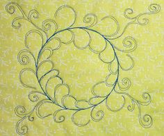 Color Me Quilty: WIP It Up! Nice elegant alternative to a feathered wreath Quilting Board, Longarm Quilting, Free Motion Quilting, Hand Quilting, Quilting Templates, Machine Quilting Designs, Quilt Patterns, Quilting Ideas, Free Stencils